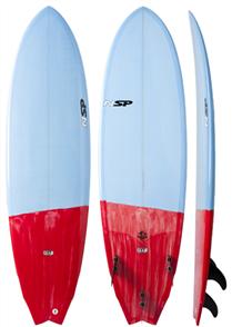 NSP 04 Fighting Fish Surf Pu Cs, Light Blue