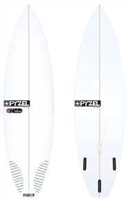 Pyzel Deluxe Board with Thruster Future Fins