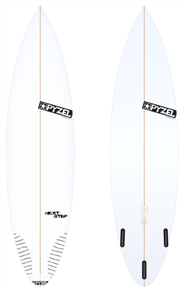 Pyzel Next Step Board with Thruster Future Fins