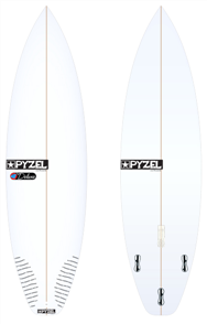 Pyzel Deluxe Board with Thruster FCS II Fins
