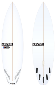 Pyzel Deluxe Board with 5 Future Fins