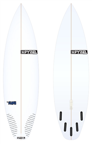 Pyzel Flash Board with 5 Future Fins