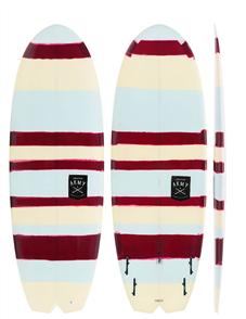 Creative Army Taco Stripe # 1 Hull PU Short Board, Tint