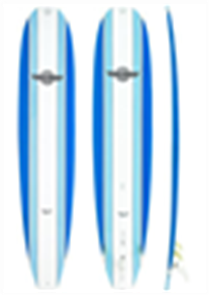 Walden Magic Model X2 Longboard, Light Blue, 9'0