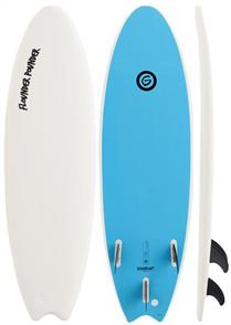 Gnaraloo Flounder Pounder Softboard, White Blue