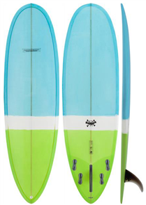 Modern Love Child PU Surfboard Blue Green