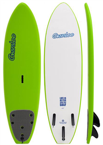 Gnaraloo Soft Surfboard with Tail Pad, Lime
