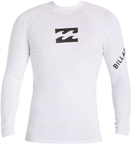 Billabong Platinum Wave Ls Rashie, White