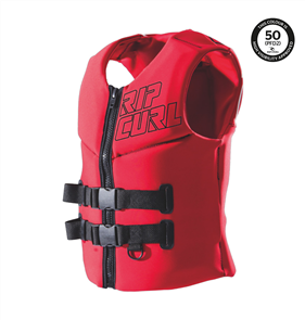 Rip Curl Mens Omega Buoyancy Vest, Red