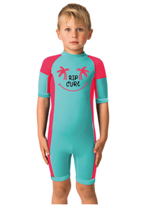 Youth Dawn Patrol Short Sleeve Spring Suit, Pink