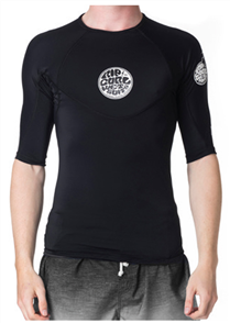 Rip Curl Bomb Fitted Short Sleeve Uv Tee, Black