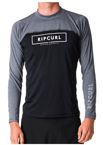 Rip Curl Underline Relaxed Long Sleeve Uv Tee, Black