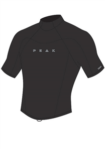 1.5mm Energy Short Sleeve Wetsuit Jacket, Black