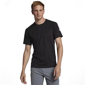 Hurley Icon Quick Dry Short Sleeve Rash Vest, Black