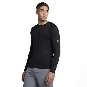 Hurley Icon Quick Dry Long Sleeve Rash Vest, Black