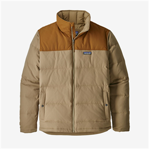 Patagonia Mens Bivy Down Jacket, Mojave/ Khaki