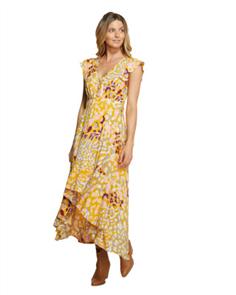 Oneill EASTBOURNE MAXI DRESS, MUSTARD MULTI