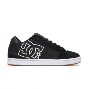 DC Net SE Mens Shoe, Black Herringbone