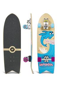 "SmoothStar Flying Fish 32"" Surf Skateboard, Blue"