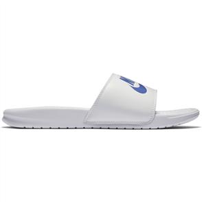 Nike Mens Benassi -Just Do It.- Sandal, White Varsity