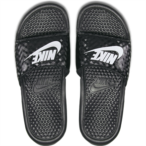 "Nike Benassi ""Just Do It."" Sandal, Black White"