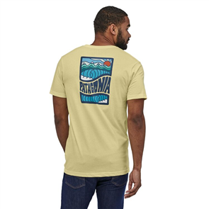 Patagonia Cosmic Peaks Organic T-Shirt, Resin Yellow
