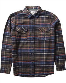 Vissla Central Coast LS Flannel Shirt, Java