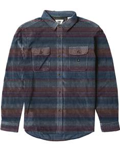 Vissla Eco-Zy LS Polar Flannel Shirt, Dark Denim