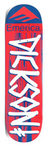Deathwish Deck Jon Dickson Emerica Red/Blue Size 8.25