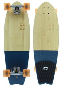 Globe Sun City Cruiser Skateboard Complete, Half Dip Bamboo Blue