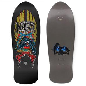 "Santa Cruz Natas Panther Metallic Reissue Skate Deck, Size 10.538"""