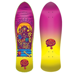 """Santa Cruz Dressen Pup Reissue Skate Deck Size 9.5"""""""