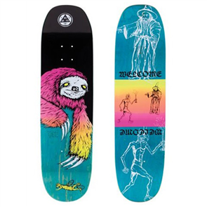 Welcome Sloth Deck Moontrimmer 2.0, Black/Surf Fade
