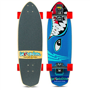 "SmoothStar Barracuda 30"" Surf Skateboard, Blue"