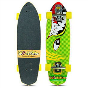 "SmoothStar Barracuda 30"" Surf Skateboard, Green"