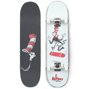 Almost DR SEUSS CAT TRE YOUTH PREMIUM COMPLETE SKATEBOARD 7.375""