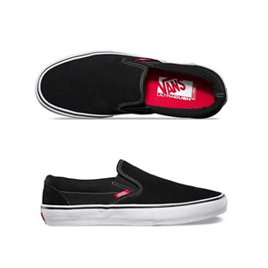 Vans Slip On Pro Shoes BLACK/WHITE/GUM