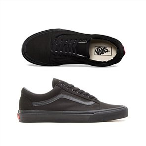Vans Old Skool Classics Shoes, Black/ Black