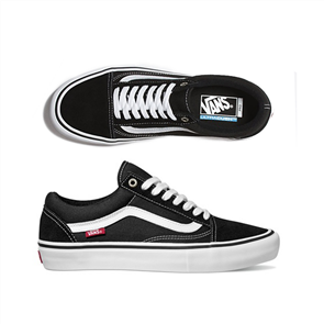 Vans Old Skool Pro Shoes Black White
