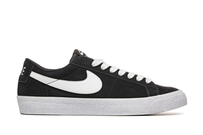 Nike SB Zoom Blazer Low Skateboarding Shoe, Black White