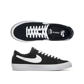 Nike SB Zoom Blazer Low Skateboarding Shoe, Black White