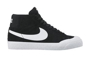 Nike SB Zoom Blazer Mid XT Skateboarding Shoe, Black White