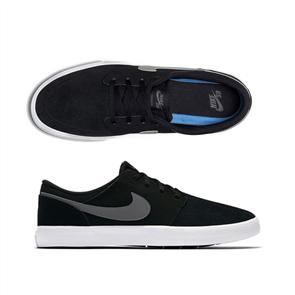 Nike SB Solarsoft Portmore II Skateboarding Shoe, Black