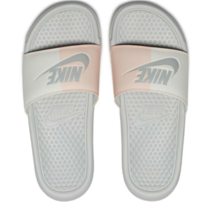 "Nike Benassi ""Just Do It."" Sandal, Crimson Tint Grey"