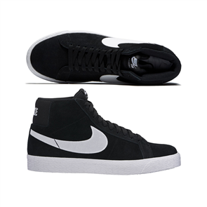 Nike Sb Zoom Blazer Mid Shoe, Black White