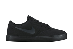 Nike Youth SB Check Canvas (GS) Shoe, Black Black