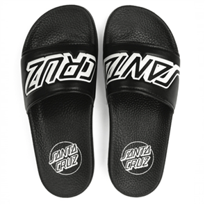 Santa Cruz Classic Strip Slide Sandal, Black