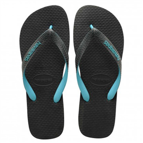 Havaianas Logo Filete Mix Jandal, Grey Turquoise