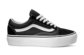 Vans Old Skool Platform Shoes, Black White