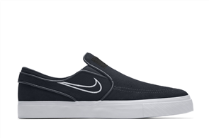 Nike SB Zoom Stefan Janoski Slip, Black Light Bone White